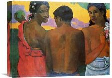 'Three Tahitians' by Paul Gauguin Painting Print on Wrapped Canvas