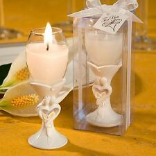 6 X Stylish Bride & Groom Champagne Flute Candle Holder Wedding Party Favors