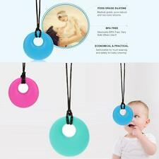 New Silicone Baby Teether Teething Safe Pendant Soft Chew Nursing Necklace Gift