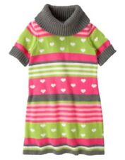 Gymboree Loveable Giraffe 5 7 8 Sweater Dress Stripes Hearts Girls Winter New