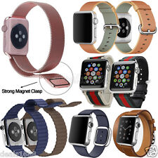 Stainless Steel Leather Canvas Nylon Watch Band Strap For Apple Watch iWatch Lot