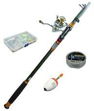 2.1m Portable Carbon Telescopic Fishing Rod Set Combos Spinning Reel Line Baits