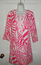 NWT LILLY PULITZER CAPRI PINK YACHT SEA JULIANNA TUNIC DRESS M L  $228