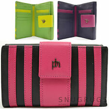 Ladies / Womens Super Soft 100% Leather Two Tone Purse / Money / Coin Holder