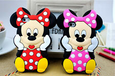 "3D Cute Cartoon Mouse Soft Silicone Case Cover For Apple iPhone 6 4.7"" 5.5"""
