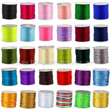 2mm Nylon Braided Chinese Knot Rattail Cord Macrame Shamballa String Thread