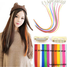 Wholesale Highlight Synthetic Grizzly Feather Clip in Hair Extensions Hairpiece