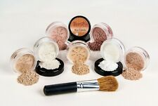 $40 SPECIAL Mineral Makeup Set Full Size Kit w/ Brush Bare Skin Foundation Cover