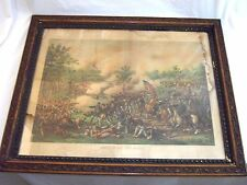 Battle of Atlanta 1888 Kurz Allison Chromolithograph original framed damaged