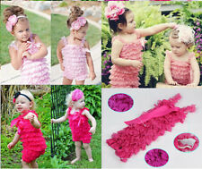 Hot Newborn Infant Baby Child Girl Lace Posh Petti Ruffle Rompers Size 0-3 Years