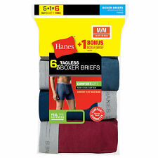 Hanes Mens TAGLESS Boxer Brief with Comfort Flex Waistband, 6/Pack (7349Z6)