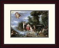 'Allegory of the Elements' by Jan Brueghel the Elder Framed Painting Print