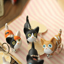 Lovely Key Bag Chain Keyring Bell Naughty Rotation Charm Cat Bag Keychains Gifts