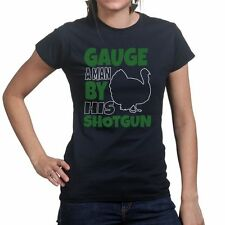 12 20 Gauge A Man By His Shotgun Hunting Hunter Funny Turkey Dove Womens T shirt