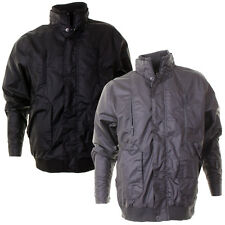 Mens Blue Box Casual Bomber Jacket With Hidden Zip Through Front In 2 Colours