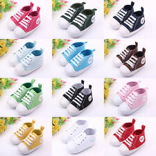 Newborn Infant Toddler Baby Boy Girl Soft Sole Crib Shoes Sneaker 0-18 Months