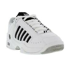 K-Swiss Defier Rs Mens Leather Tennis Trainers Shoes White Black Size UK 8-13