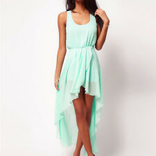 Fashion Summer Women Sexy Sleeveless Chiffon Mini Dress Vest Beach Short Dresses