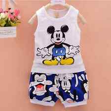 Outfit New Summer 2PCS Baby Boys Sleeveless T-shirt + Shorts Clothes Set