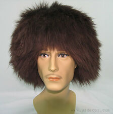 UZBEK TURKMEN CAUCASUS TRADITIONAL LONG FUR HAT-TELPAK, PAPAHA BROWN COLOR #7004
