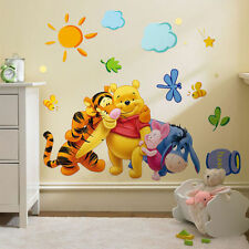 Cute Winnie the Pooh Nursery Room Art Wall Decal Decor Stickers For Kids Baby Q