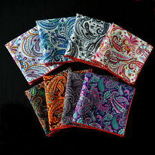 Men Floral Paisley Wedding Handkerchief Pocket Square Hanky High Quality