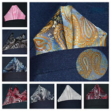 Men Classic Paisley Flower Handkerchief Wedding Party Pocket Square Hanky