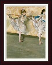 Global Gallery Dancers at The Bar by Edgar Degas Framed Painting Print
