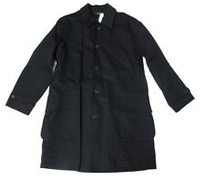 Double Ralph Lauren RRL Mens Indigo Navy Officer Trench Coat Water Proof Jacket