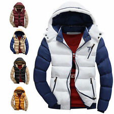 Fashion Warm Padded Jacket Parka Winter Ski Outerwear Outcoat Hooded Men's Coats