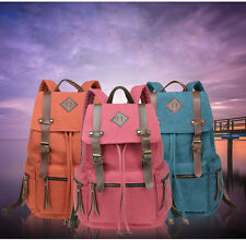 New Men Canvas Backpack Fashion Women Leisure Travelling bag Schoolbag Book Bag