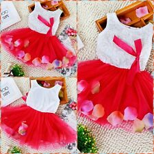 Toddler Infant Girl Princess Birthday Party Girls Dresses AGE SIZE 0-6-12-18-24M