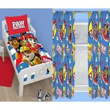 """PAW PATROL PAWSOME JUNIOR BEDDING & CHOICE OF 54"""" & 72"""" CURTAINS AVAILABLE KIDS"""