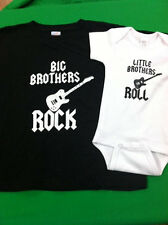 BIG BROTHERS ROCK LITTLE BROTHERS ROLL - SET OF 2 SHIRT AND BODYSUIT - SIZE BOYS