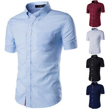 Fashion Mens Luxury Short Sleeve Shirt Business Stylish Dress T Shirts Tops New