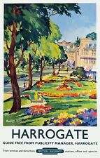 TX420 Vintage HARROGATE North Yorkshire British Railways Travel Poster A2/A3/A4
