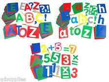 GIANT ALPHABET CUT OUT TEMPLATE STENCILS UPPER LOWER CASE LETTERS & NUMBERS 17cm