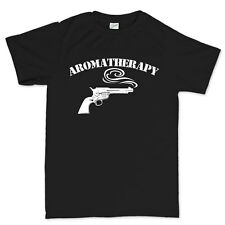 Aromatherapy Revolver Gun Powder Six Shot Smith 45 colt T shirt Tee Top T-shirt