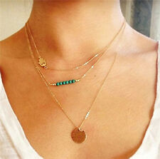 Women Fashion Jewelry Multilayer Chain Palm Clavicle Necklace N39-40