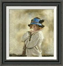 Global Gallery 'The Blue Hat' by Sir William Orpen Framed Painting Print