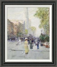 Global Gallery 'Springtime' by Childe Hassam Framed Painting Print