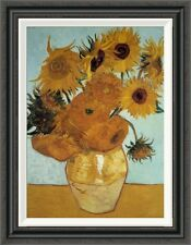 Global Gallery 'Sunflowers 1888 (3)' by Vincent Van Gogh Framed Painting Print