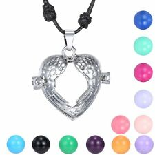 Sweet Angel Wing Locket Pendant Pregnancy Necklace Sounds Bell Ball Fashion Gift