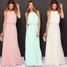 Women New Long Chiffon Evening Formal Party Cocktail Dress Bridesmaid Prom Gown