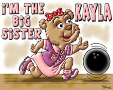 BIG SISTER T-SHIRT-BOWLING BEAR DESIGN BY ED SEEMAN- FREE CUSTOMIZING
