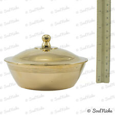 Brass Bowl Resin Incense Charcoal Burner with Lid (BOWL31)