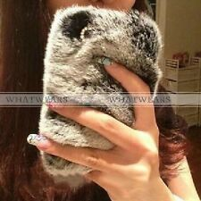 Luxury Bling Crystal Faux Rabbit Fur Case for Apple iPhone 4 4S 5 5S 6 MUS