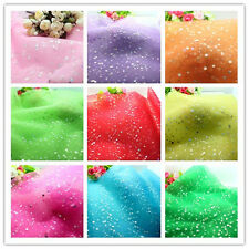 "1/10Y 59"" DIY Sequin Tulle Fabric Tutu Sewing Trim Wedding Decoration L1559-1829"