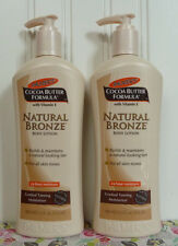 2 HUGE PALMER'S NATURAL BRONZE TANNING  BODY LOTION PALMERS 13.5 OZ (400 ml)