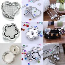 Snap-It Chunk Floating Charms Locket For Button Bangle Bracelet Living Memory
